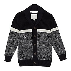 J by Jasper Conran - Boys' textured knit cardigan'