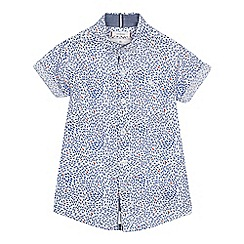 J by Jasper Conran - Boys' white fish print short sleeve shirt