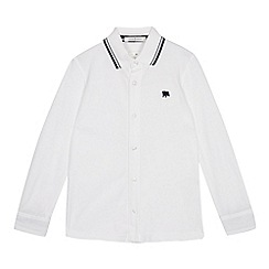 J by Jasper Conran - Boys' white long sleeve polo shirt