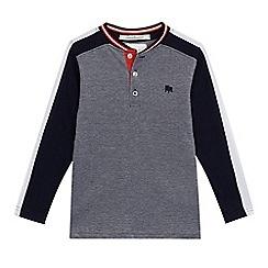 J by Jasper Conran - 'Boys' navy birdseye sweatshirt