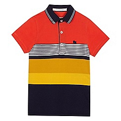 J by Jasper Conran - Boys' orange striped polo shirt