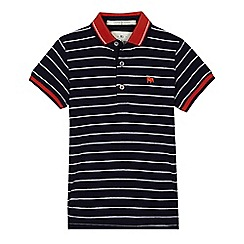 J by Jasper Conran - 'Boys' navy striped polo shirt