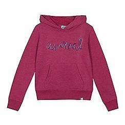 Animal - Girls' pink logo embroidery sweater