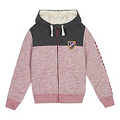 Animal - Girls' Pink Colour Block Hoodie