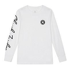 f38b58bc4c82 Converse - Boys  white logo print T-shirt