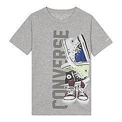 c10e424a4c7d Converse - Kids  grey trainer print t-shirt