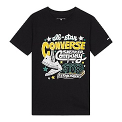 Converse - Kids' black graphic 'All Star' print t-shirt