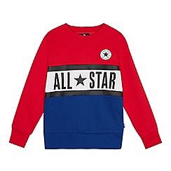 Converse - Kids' red 'All Star' jumper