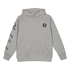 Converse - Kids' grey logo print sweater