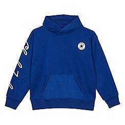 Converse - Kids' blue logo print hoodie
