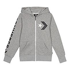 Converse - Kids' grey chevron print hoodie