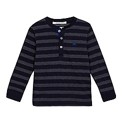 J by Jasper Conran - Boys' navy textured striped top