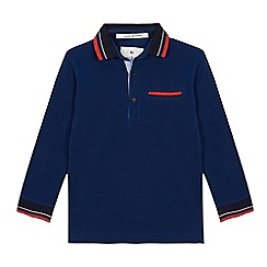 J by Jasper Conran - Boys' blue tipped polo shirt