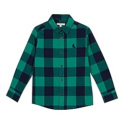 bluezoo - Boys' Green Checked Long Sleeve Shirt