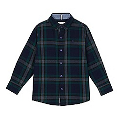 J by Jasper Conran - Boys' Green Check Print Shirt