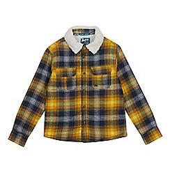 Mantaray - Boys' Yellow Checked Print Shirt Jacket