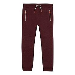 Mantaray - Boys' maroon knit jogging bottoms