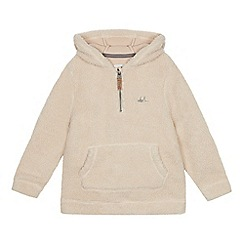 Mantaray - Boys' cream borg hoodie