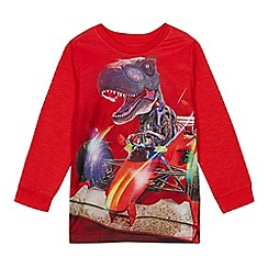 bluezoo - Boys' red racing dinosaur print top