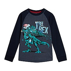 bluezoo - Boys' Navy 'Tree Rex' Christmas Print Top