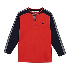 J by Jasper Conran - Boys' orange panelled top