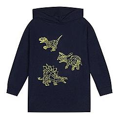 bluezoo - Boys' navy dinosaur print hoodie