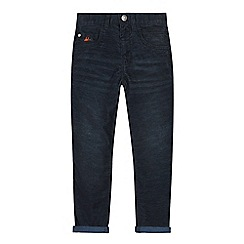 Mantaray - Boys' navy corduroy regular fit trousers