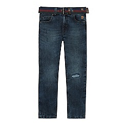 Mantaray - Boys' blue vintage wash slim fit jeans