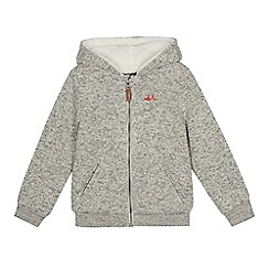 Mantaray - Boys' grey knitted hoodie