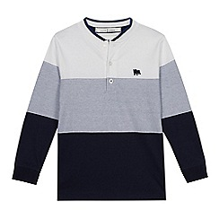 J by Jasper Conran - Boys' White Chest Stripe Henley Top