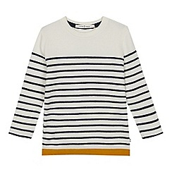 J by Jasper Conran - Boys' White Stripe Print Jumper
