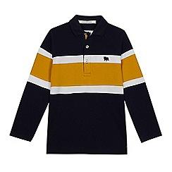 J by Jasper Conran - Boys' Navy Chest Stripe Polo Shirt