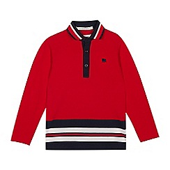 J by Jasper Conran - Boys' Red Hem Striped Polo Shirt
