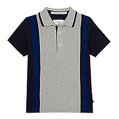 J by Jasper Conran - Boys' Blue Vertical Stripe Polo Shirt