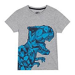 bluezoo - Boys' Grey Dinosaur T-Shirt