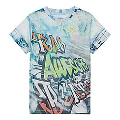 bluezoo - Boys' Multicoloured Graffiti T-Shirt