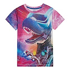 bluezoo - Boys' Purple Gaming Dinosaur T-shirt