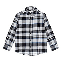 bluezoo - Boys' Black Checked Long Sleeve Shirt