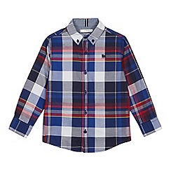 J by Jasper Conran - Boys' Multicoloured Checked Long Sleeve Cotton Shirt