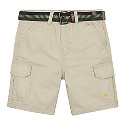 Mantaray - Boys' tan cargo shorts and belt