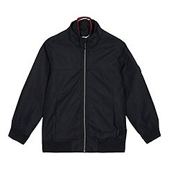 J by Jasper Conran - Boys' Navy Shower Resistant Harrington Jacket