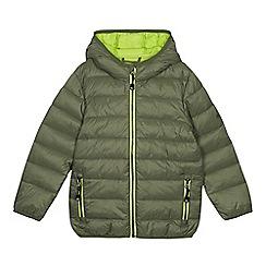 Mantaray - Boys' Khaki Padded Shower Resistant Coat