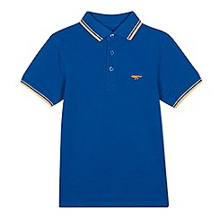 bluezoo - Boys' bright blue tipped cotton polo shirt