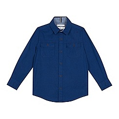 J by Jasper Conran - Boys' Blue Workwear Long Sleeve Shirt