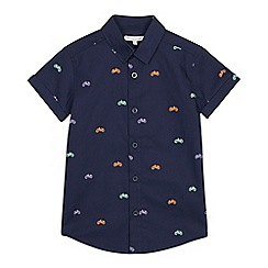 bluezoo - Boys' Navy Bike Print Short Sleeve Shirt