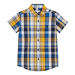 bluezoo - Boys' Multicoloured Checked Short Sleeve Shirt