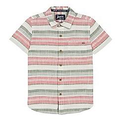 Mantaray - Boys' Multicoloured Striped Short Sleeve Regular Fit Shirt