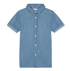bluezoo - Boys' Blue Chambray Short Sleeve Shirt