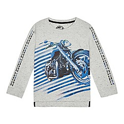 085aec72fd0c bluezoo - Boys  Grey Motorbike Print Top