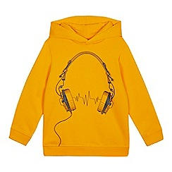 bluezoo - Boys' Dark Yellow Headphone Print Hoodie